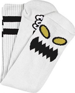 Toy Machine Monster Face Crew Socks [White] Single Pair