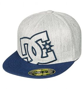 DC Boys Ya Heard 2 Flexfit Hat/Cap One Size Dark Indigo/Heather Grey