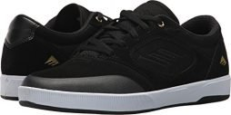 Emerica Men's Dissent Skate Shoe, Black/White/Gold, 11 Medium US