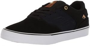 Emerica Men's The Reynolds Low Vulc Skate Shoe, Black/Navy, 12 Medium US
