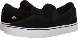 Emerica Men's Wino G6 Slip-on Skate Shoe, Black/White/Gold, 9 Medium US