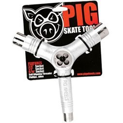 Pig Tri Socket Skate Tool and Threader White