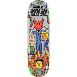 World Industries Wi Puppet Deck -8.5 Assembled as Complete Skateboard