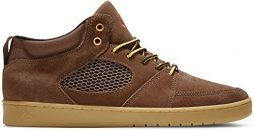 eS Mens Accel Slim Mid Brown Gum Skate Shoe