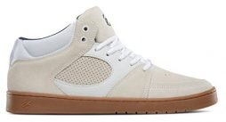 eS Men's Accel Slim Mid Skate Shoe, White/Gum, 9.5 Medium US