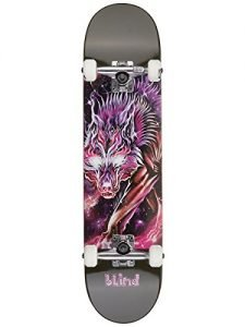 "Blind Cosmic Wolf FP Complete Skateboard Completes,7.625FU""W,Purple"