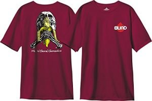 Blind Skateboards Gonz Skull And Banana Vintage Burgundy Men's Short Sleeve T-Shirt - X-Large