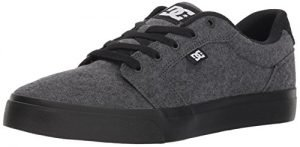 DC Men's Anvil TX SE Skate Shoe, Black/Black/Dark Grey, 9.5 Medium US