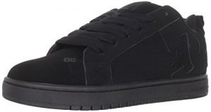 DC Men's Court Graffik Skate Shoe, Black/Black/Black, 12 M US
