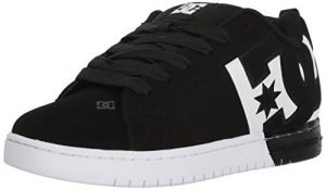 DC Men's Court Graffik sq Skate Shoe, Black/White/Black, 10.5D D US