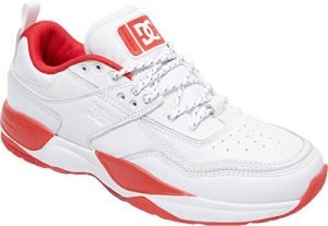 DC Men's E.Tribeka S Js Shoes, White/Red, 11D