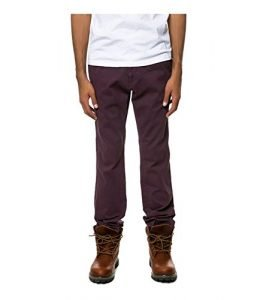 Fourstar Clothing Mens Carroll Chino Casual Trousers Red 33x31