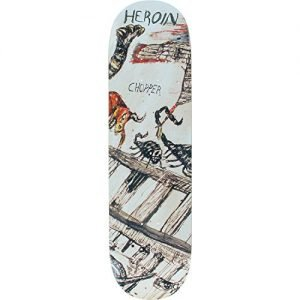 "Heroin Skateboards Chopper Enemy Ritual Skateboard Deck - 8.44"" x 32.5"""