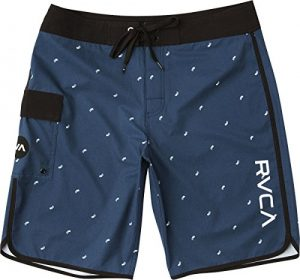 RVCA Men's Eastern Boardshort Trunk, Seattle Blue, 28