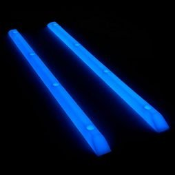 Yocaher Skateboard/Longboard Rails Ribs Bones 14.5″ Glow Blue and neon Colors