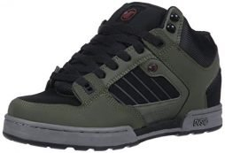 DVS Men's Militia Boot Skate Shoe, Military Olive Black Nubuck Ferguson, 12 Medium US