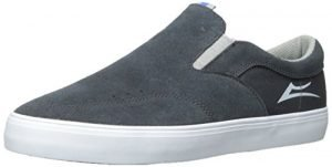 Lakai Men's Owen Skate Shoe, Phantom Suede, 11.5 M US