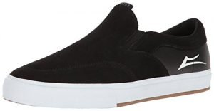 Lakai Men's Owen VLK Skateboarding Shoe, Black Suede, 12 M US