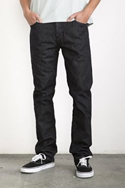 RVCA Men's Daggers Denim with Back Patch Pockets