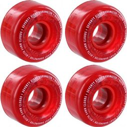 Ricta Wheels Crystal Clouds Red Skateboard Wheels - 54mm 78a (Set of 4)