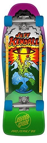 "Santa Cruz Old School Skateboard Cruiser Kendall End of the World 10"" x 29.7"""