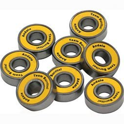 Andale ABEC 5 Single Bearing Skateboard Accessories, Yellow