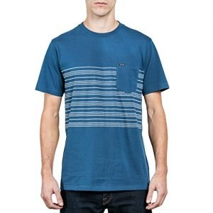 Volcom Young Men's Volcom Men's Short Sleeve Threezy Crew Shirt Shirt, Smokey Blue, M