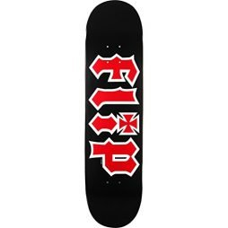Flip Hkd Skateboard Deck -8.0 Black/Red DECK ONLY - (Bundled with FREE 1'' Hardware Set)