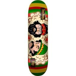 "Flip Penny Cheech & Chong Skateboard Deck -8.0 Rasta DECK ONLY (Bundled with FREE 1"" Hardware Set)"