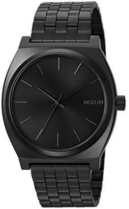 NIXON Time Teller A046 - All Black - 101M Water Resistant Men's Analog Fashion Watch (37mm Watch Face, 19.5mm-18mm Stainless Steel Band)