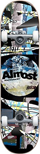 "Almost Distressed FP Skateboard Complete,Black,31.6"" L X 8.0"" W x 14.0"" WB"