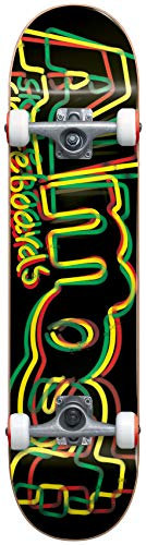 Almost Neon Skateboard Complete Rasta Sz 8in