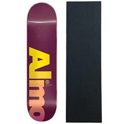 Almost Skateboards Deck Fall Off Logo Magenta 8.0″ x 31.6″ with Grip