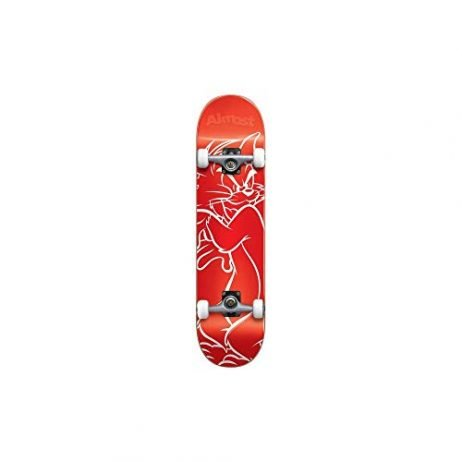 Almost Tom White Lines Youth Premium Complete Skateboard,Red,29.0″ L X 7.0″ W X 12.25″ WB