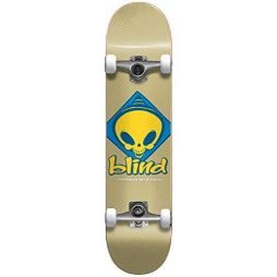 """Blind Retro Reaper Scout First Push (Tan) Complete Skateboard 7.625"""""""