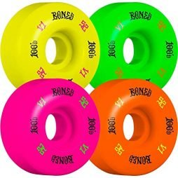 Bones Wheels 100's 52X31mm #4 Assorted 1Pk 1Grn 1Bl 1Pur [V1] Standard Wheels