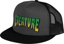 Creature Skateboards Logo Grey Mesh Trucker Hat – Adjustable