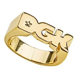 DGK Men's Logo Ring Gold 7