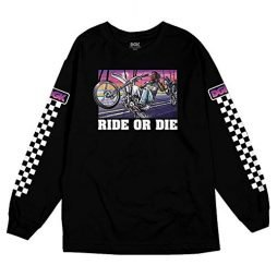 DGK Men's Stuntin Long Sleeve T Shirt Black