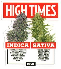 DGK x High Times – Options Skateboard Sticker – 11.5cm high approx. cannabis ganja weed marijuana spliff