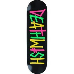 Deathwish Skateboards Deathspray Multi OG Black / Pink / Green / Yellow Skateboard Deck – 8.47″ x 31.875″