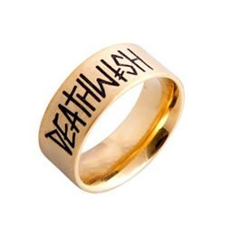 Deathwish Skateboards Deathspray Ring (Gold) Large – Size 11