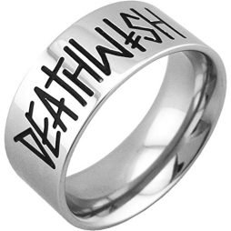 Deathwish Skateboards Deathspray Ring (Silver) X-Small Size 7