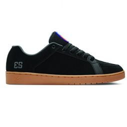 Es Sal (Black/Gum) Man's Skate Shoes-8.5