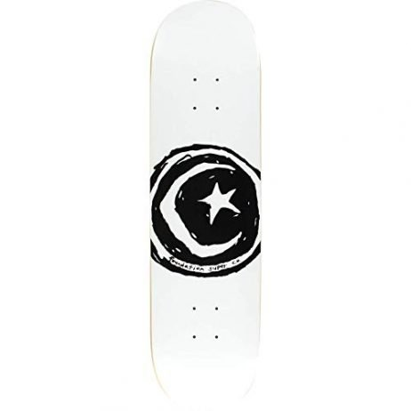 "Foundation Skateboards Star and Moon White Skateboard Deck - 8.5"" x 32.375"""