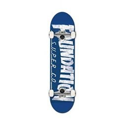 Foundation x Thrasher Skateboard Complete Blue White 8.0 w/Mob Grip