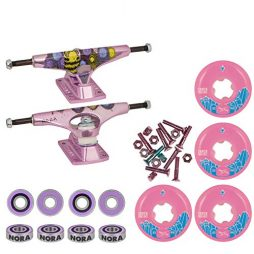 "Krux Skateboard Trucks Purple 8.0""/Ricta Super Crystal/Bones Reds Hardware"
