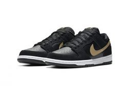 NIKE SB Dunk Low Pro Takashi Black/Metallic Gold Mens US 13