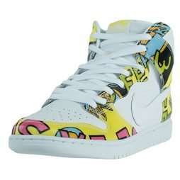 NIKE Mens Dunk High PRM DLS SB QS De LA Soul White/Firefly Leather Skateboarding