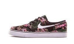 Nike Men's Zoom Stefan Janoski Premium Multi-Color/Black Ankle-High Leather Skateboarding Shoe – 12M